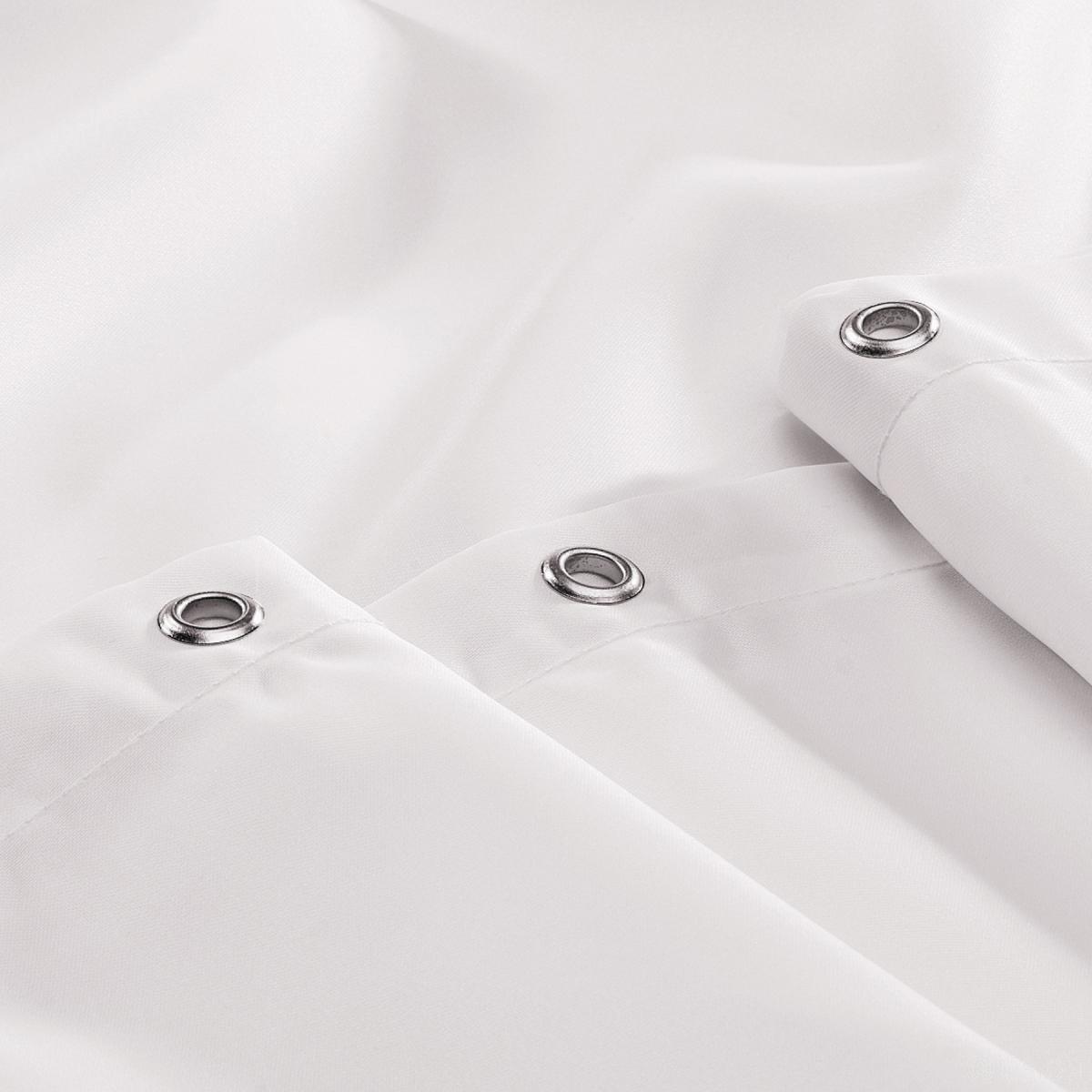 Henley Plain White Shower Curtain